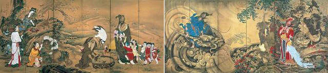 画像: 曽我蕭白 《群仙図屏風》 紙本着色 六曲一双 各172.0×378.0cm 明和元年(1764) 文化庁 重要文化財 【展示期間:3月12日~4月7日】