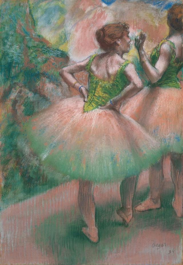 画像: エドガー・ドガ《踊り子たち(ピンクと緑)》 1894年 パステル/紙 吉野石膏コレクション