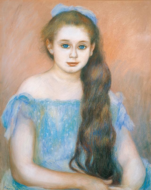 画像: ピエール=オーギュスト・ルノワール《シュザンヌ・アダン嬢の肖像》 1887年 パステル/紙 吉野石膏コレクション