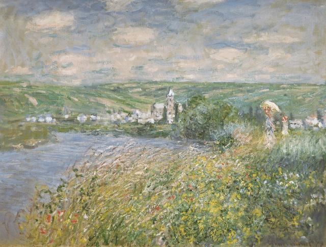 画像: クロード・モネ《ヴェトゥイユ、サン=マルタン島からの眺め》 1880年 油彩/カンヴァス 吉野石膏コレクション