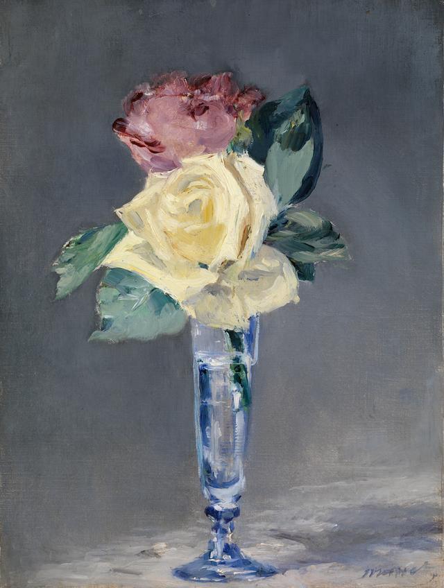画像: エドゥアール・マネ《シャンパングラスのバラ》 1882年 油彩・カンヴァス、バレル・コレクション蔵 ⓒCSG CIC Glasgow Museums Collection