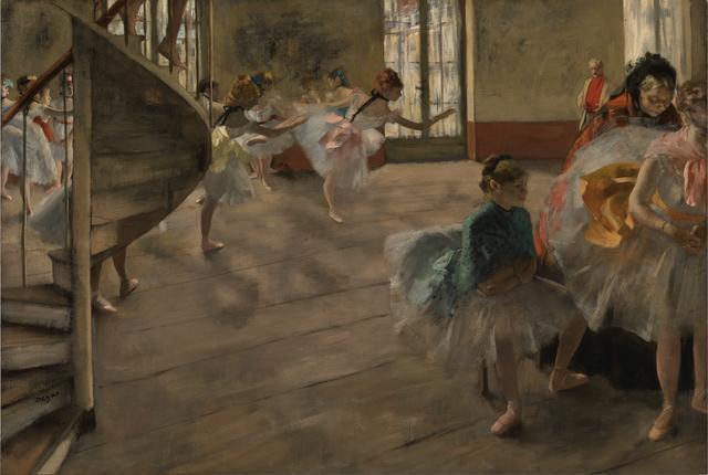 画像: エドガー・ドガ《リハーサル》1874年頃 油彩・カンヴァス、バレル・コレクション蔵 ⓒCSG CIC Glasgow Museums Collection