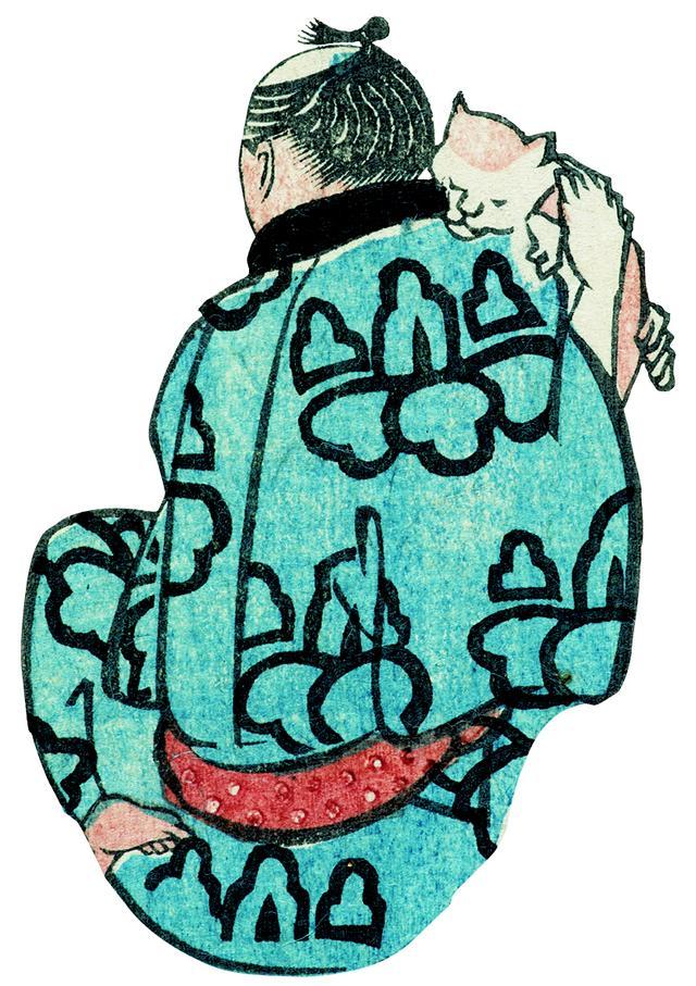 画像: 歌川国芳「浮世よしづくし」より国芳自画像 名古屋市博物館蔵(高木繁コレクション)