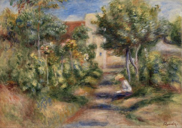 画像: ピエール・オーギュスト・ルノワール《画家の庭》 1903年頃 油彩・カンヴァス、ケルヴィングローヴ美術博物館蔵 ⒸCSG CIC Glasgow Museums Collection