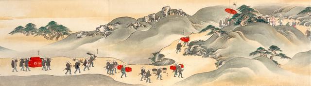 画像: 「楽宮下向絵巻」(部分) 青木正忠/画 文化元年(1804) 東京都江戸東京博物館蔵