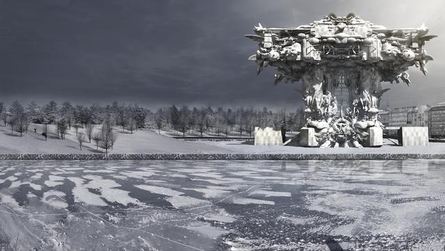 画像: マーク・フォスター・ゲージ《グッゲンハイム・ヘルシンキ美術館》 コンピューター・グラフィックス、2014 年、Image courtesy of Mark Foster Gage Architects