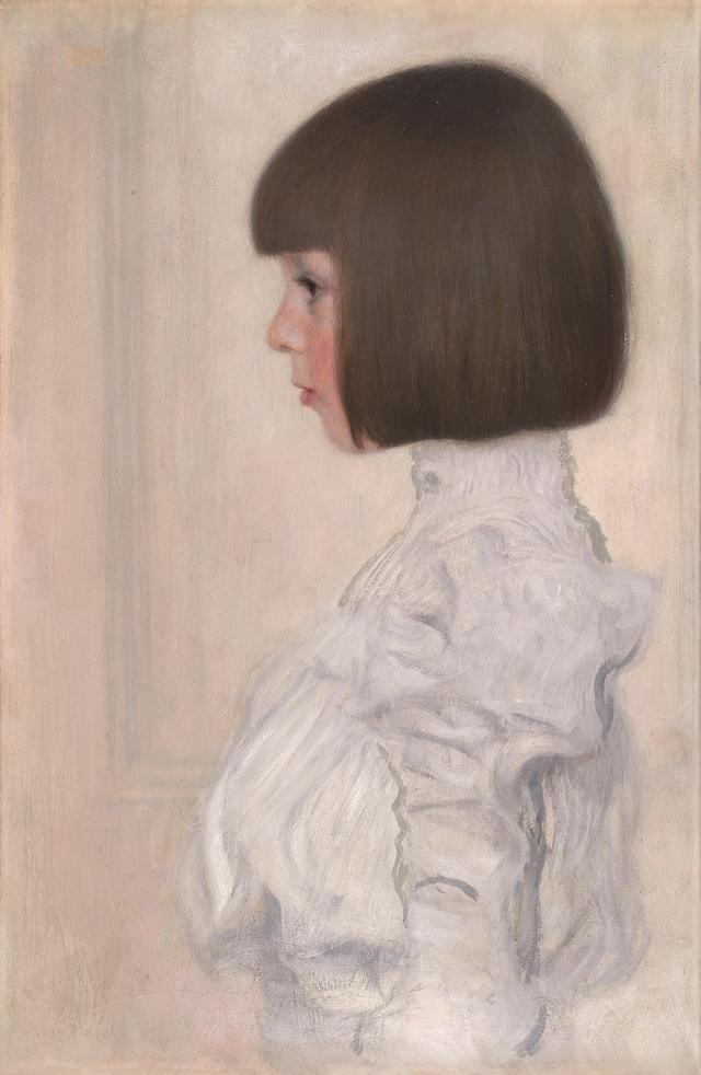 画像: グスタフ・クリムト《ヘレーネ・クリムトの肖像》1898年 油彩、厚紙 59.7×49.9cm 個人蔵(ベルン美術館寄託) Kunstmuseum Bern, loan from private collection