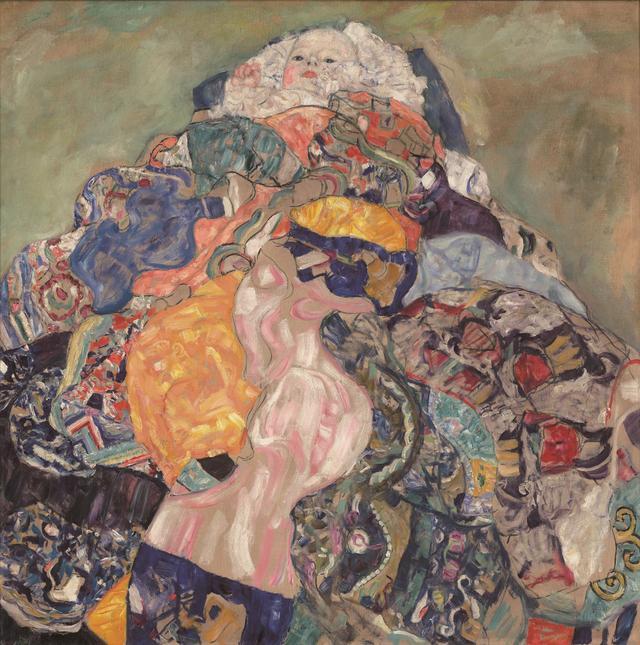 画像: グスタフ・クリムト《赤子(ゆりかご)》1917/1918年 油彩、カンヴァス 110.9×110.4cm ワシントン・ナショナル・ギャラリー National Gallery of Art, Washington, Gift of Otto and Franciska Kallir with the help of the Carol and Edwin Gaines