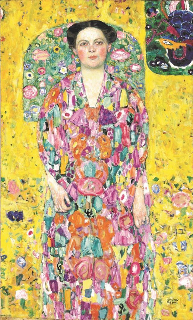 画像: グスタフ・クリムト《オイゲニア・プリマフェージの肖像》1913/1914年 油彩、カンヴァス 140×85cm 豊田市美術館