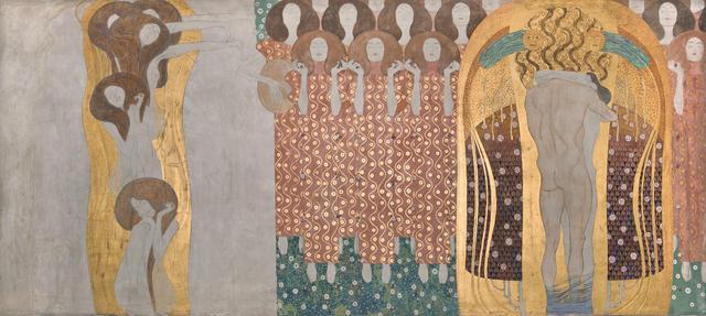 画像2: グスタフ・クリムト《ベートーヴェン・フリーズ》(部分)1984年(原寸大複製/オリジナルは1901-1902年) 216×3438㎝ ベルヴェデーレ宮オーストリア絵画館 © Belvedere, Vienna, Photo: Johannes Stoll