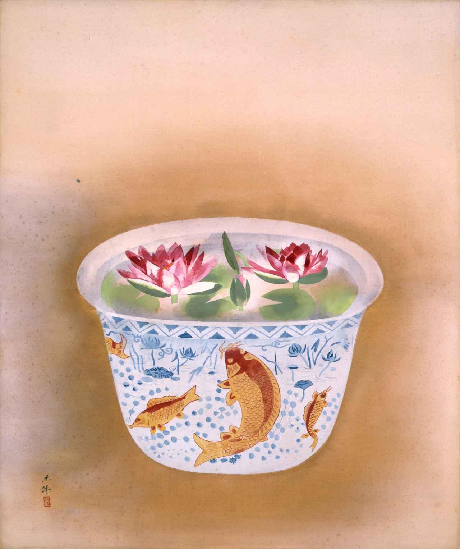画像: 奥村土牛《水蓮》1955(昭和30)年 絹本・彩色 山種美術館 66歳作