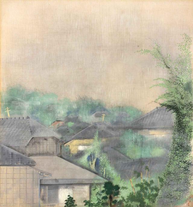 画像: 奥村土牛《雨趣》1928(昭和3)年 絹本・彩色 山種美術館 39 歳作