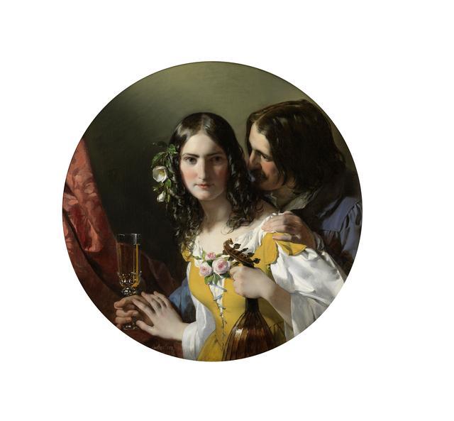 画像: フリードリヒ・フォン・アメリング《3つの最も嬉しいもの》1838年 油彩/カンヴァス 80×80 cm ウィーン・ミュージアム蔵 ©Wien Museum / Foto Peter Kainz