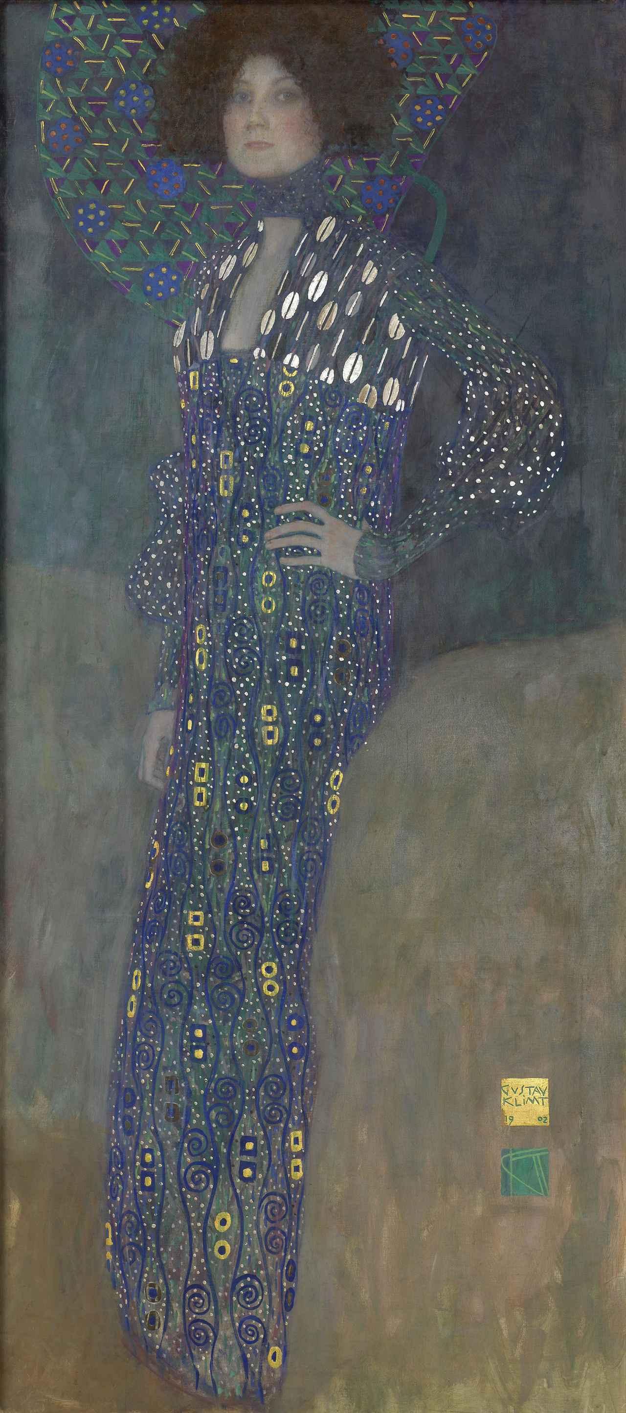 画像: グスタフ・クリムト《エミーリエ・フレーゲの肖像》1902年 油彩/カンヴァス 178×80 cm ウィーン・ミュージアム蔵 ©Wien Museum / Foto Peter Kainz