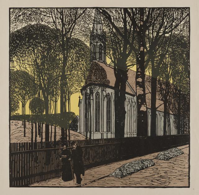 画像: カール・モル《ハイリゲンシュタットの聖ミヒャエル教会》1903年 京都国立近代美術館所蔵