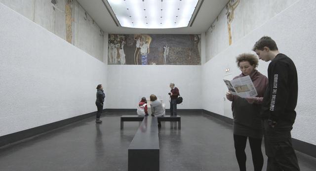 画像: 「ヴェートーヴェン・フリーズ」展示風景) © Belvedere, Wien