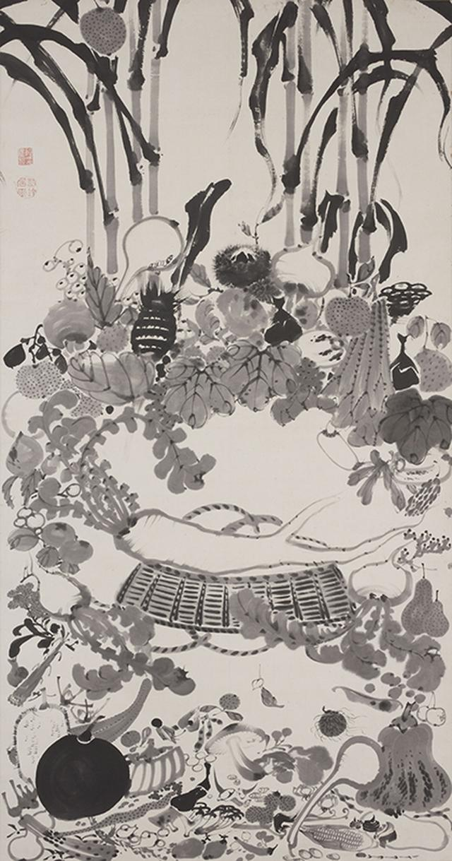 画像: 重要文化財《果蔬涅槃図》紙本墨画 京都国立博物館蔵
