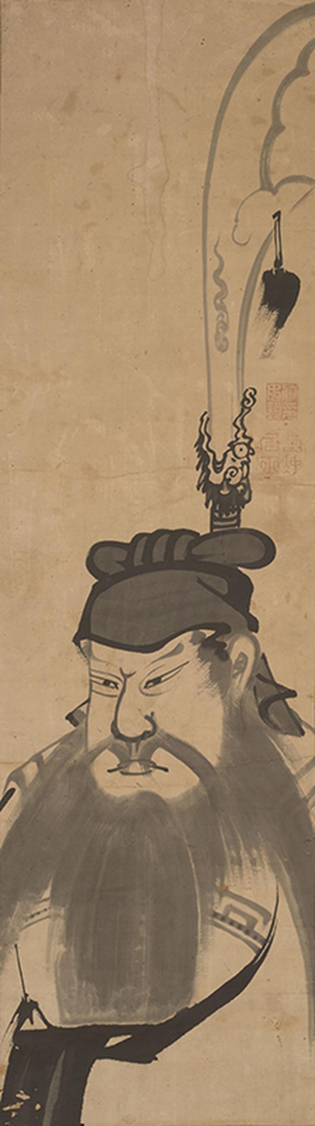 画像: 《関羽図》紙本墨画 個人蔵