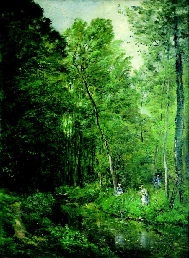 画像: シャルル=フランソワ・ドービニー《ヴァルモンドワの森の中(ル・ソスロン)》1877年 油彩/カンヴァス 125×89cm ポントワーズ、カミーユ・ピサロ美術館 ©Musées de Pontoise