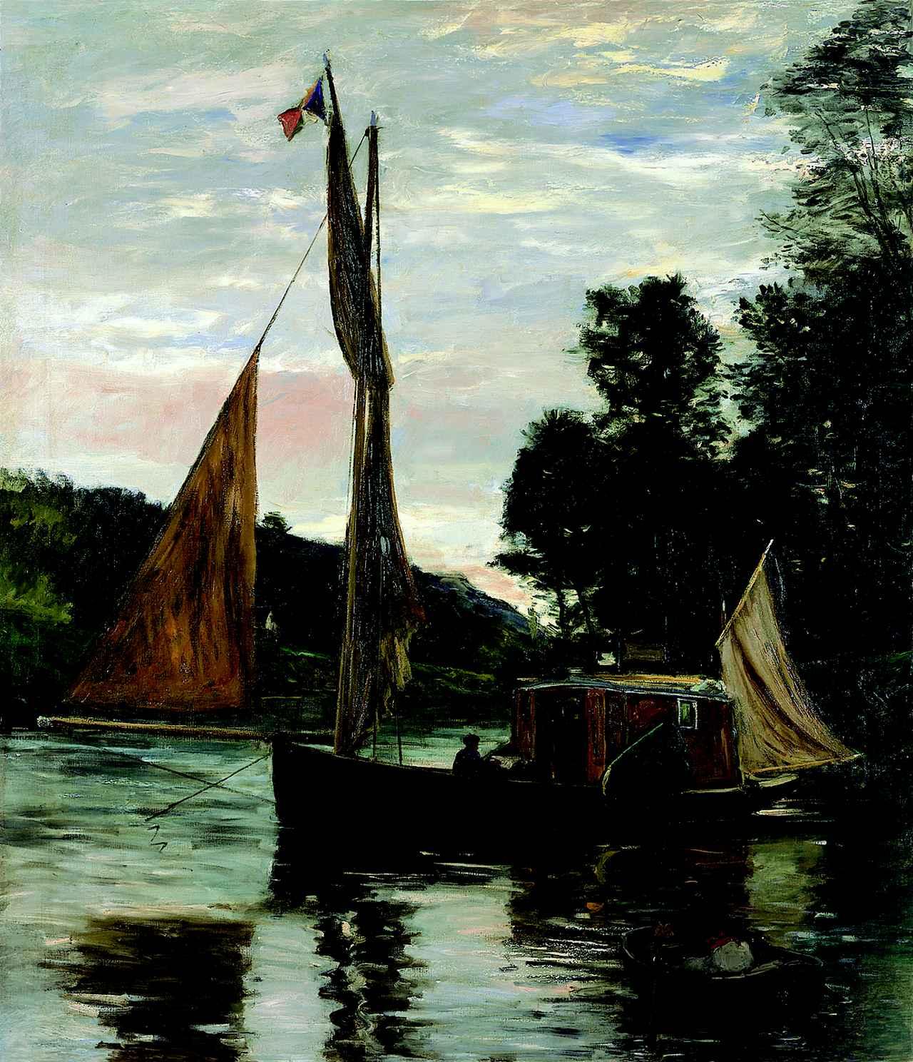 画像: シャルル=フランソワ・ドービニー《ボッタン号》 1869年頃 油彩/カンヴァス 171.5×147cm フランス、個人蔵 ©Archives Musées de Pontoise