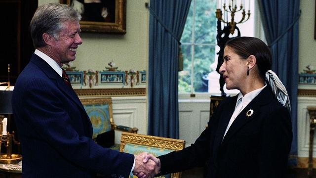 画像: カーター大統領と若い頃のRBG © Cable News Network. All rights reserved.