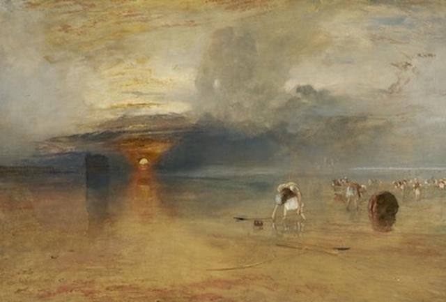 画像: ジョゼフ・マラード・ウィリアム・ターナー《カレの砂浜――引き潮時の餌採り》1830年、油彩/カンヴァス、68.6×105.5cm、ベリ美術館 ©Bury Art Museum, Greater Manchester, UK