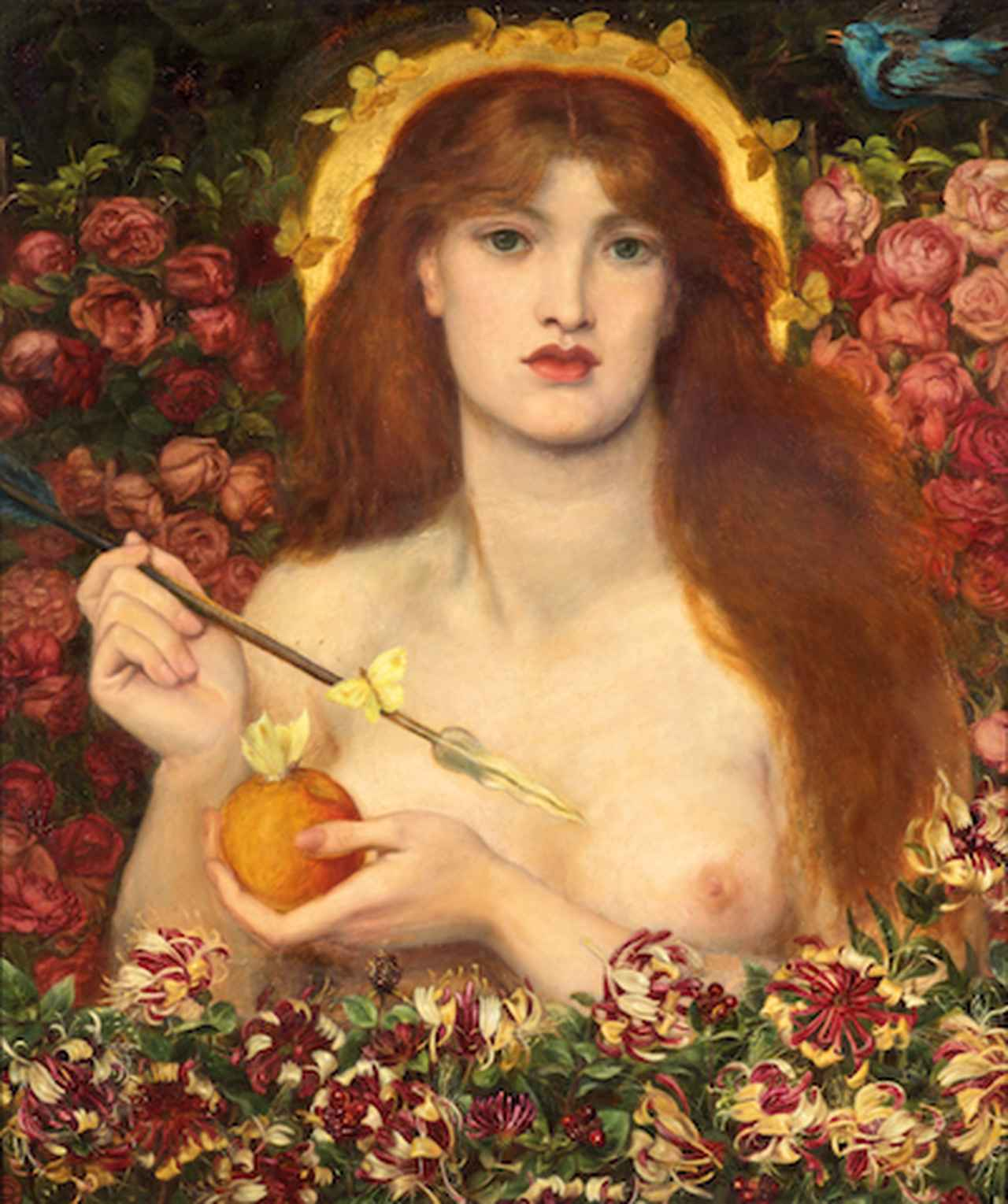 画像: ダンテ・ゲイブリエル・ロセッティ《ウェヌス・ウェルティコルディア(魔性のヴィーナス)》1863-68年頃、油彩/カンヴァス、83.8×71.2 cm、ラッセル=コーツ美術館 ©Russell-Cotes Art Gallery & Museum, Bournemouth
