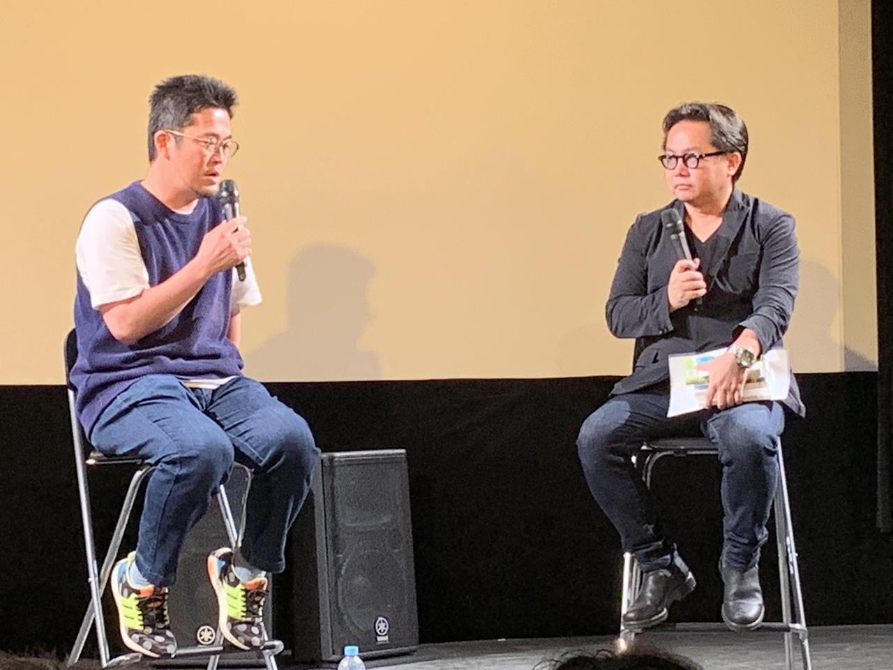 画像: 左より中野量太監督、松崎健夫さん(映画評論