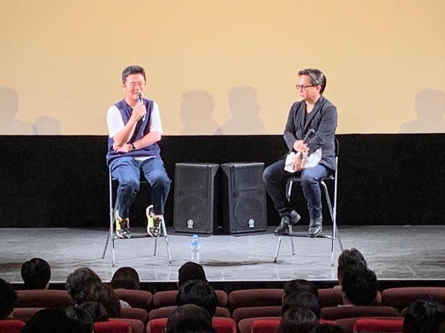 画像: 左より中野量太監督、松崎健夫さん(映画評論家)