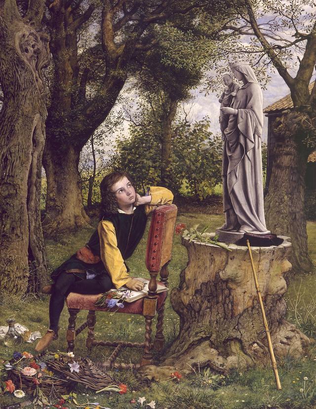 画像: ウィリアム・ダイス《初めて彩⾊を試みる少年ティツィアーノ》1856-57年 油彩/カンヴァス アバディーン美術館 ©Aberdeen Art Gallery