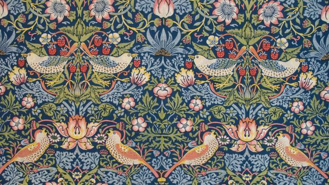 画像: ウィリアム・モリスとモリス商会《イチゴ泥棒》1883年 綿プリント     タリー・ハウス美術館(カーライル、英国) ©Tullie House Museum and Art Gallery, Carlisle, UK