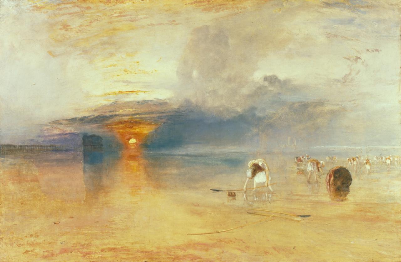 画像: ジョゼフ・マラード・ウィリアム・ターナー《カレの砂浜−引き潮時の餌採り》1830 年 油彩/カンヴァス    ベリ美術館 ©Bury Art Museum, Greater Manchester, UK