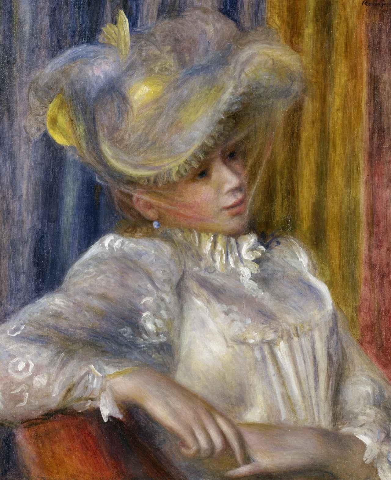 画像: ピエール=オーギュスト・ルノワール《帽子の女》 1891年 油彩、カンヴァス 国立西洋美術館(松方コレクション)