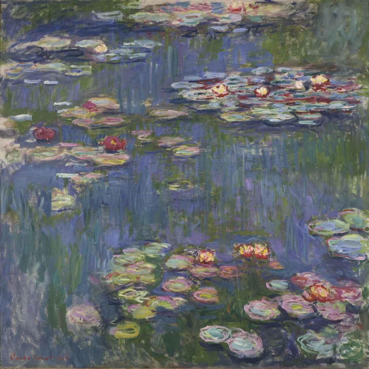 画像: クロード・モネ《睡蓮》 1916年 油彩、カンヴァス 国立西洋美術館(松方コレクション)