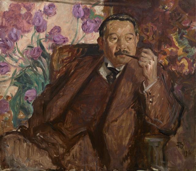画像: フランク・ブラングィン《松方幸次郎の肖像》 1916年 油彩、カンヴァス 国立西洋美術館(旧松方コレクション)
