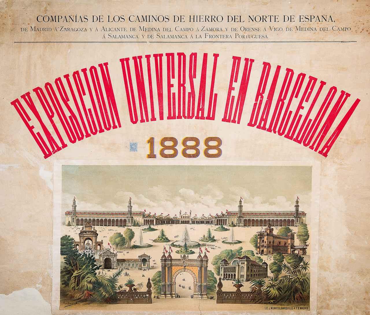 画像: G. L. ルイス《1888年バルセロナ万博のポスター》 1888年 クロマトグラフ・リトグラフ・紙 カタルーニャ図書館 © Biblioteca de Catalunya