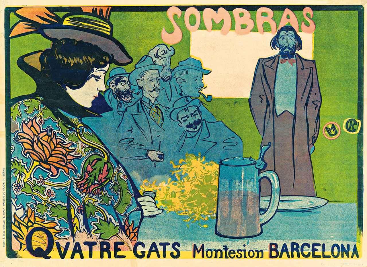画像: ラモン・カザス《影絵芝居のポスター》 1897年 リトグラフ・紙 マルク・マルティ・コレクション © Marc Marti Collection