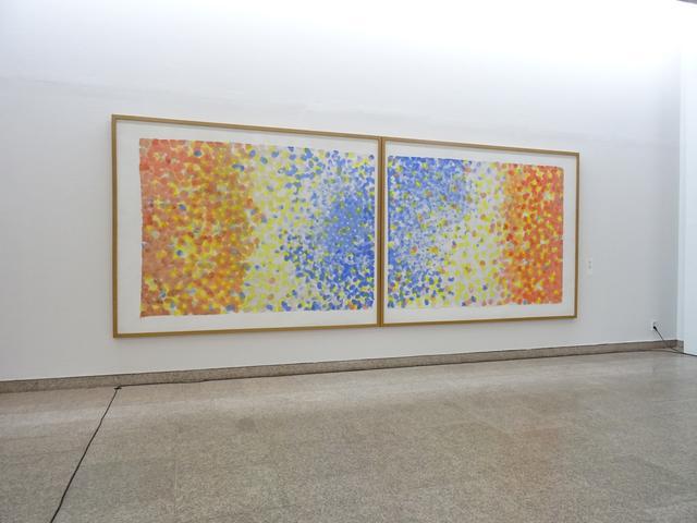 画像: Work 83 C  和紙、彩墨 Washi, Saiboku 183x473cm 1983