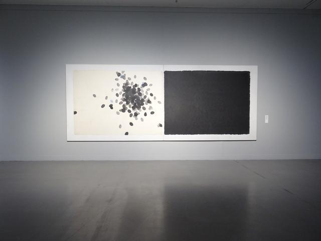 画像: Work 85-5-10   和紙、墨 Washi, sumi-ink 183x480cm 1985