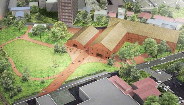 画像: 上空からみたシードルゴールドの屋根 ⒸAtelier Tsuyoshi Tane Architects