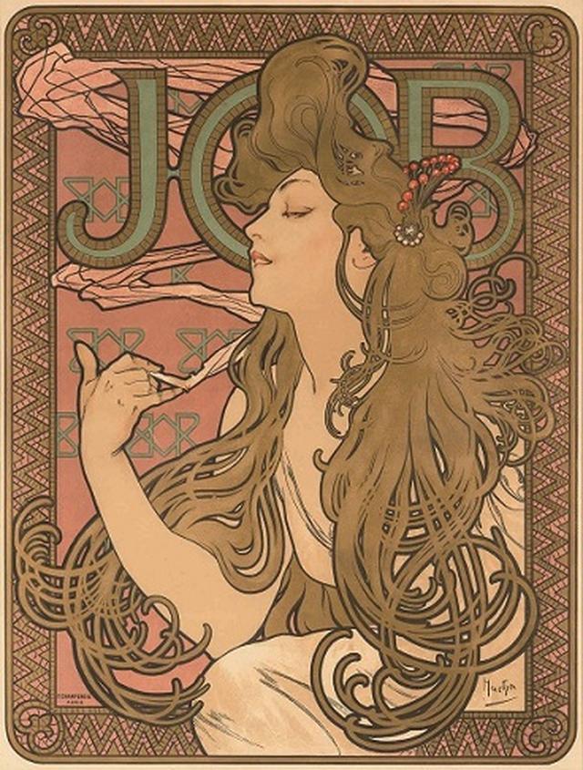 画像: アルフォンス・ミュシャ《ジョブ》1896年 カラーリトグラフ ミュシャ財団蔵 ©Mucha Trust 2019