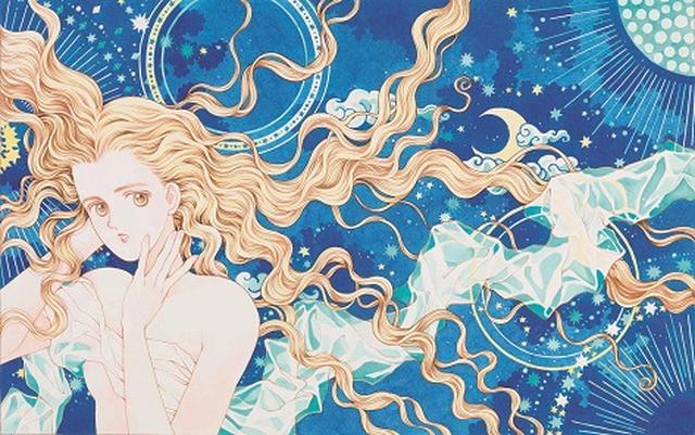 画像: 松苗あけみ 《星座の少女》(『月刊ぶ∼け』 1989年9月号表紙用イラスト)1989年  カラーインク・紙 ©Akemi Matsunae