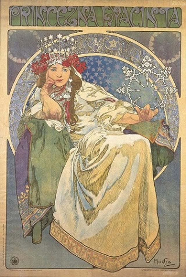 画像: アルフォンス・ミュシャ 《ヒヤシンス姫》  1911年  カラーリトグラフ   ミュシャ財団蔵  ©Mucha Trust 2019