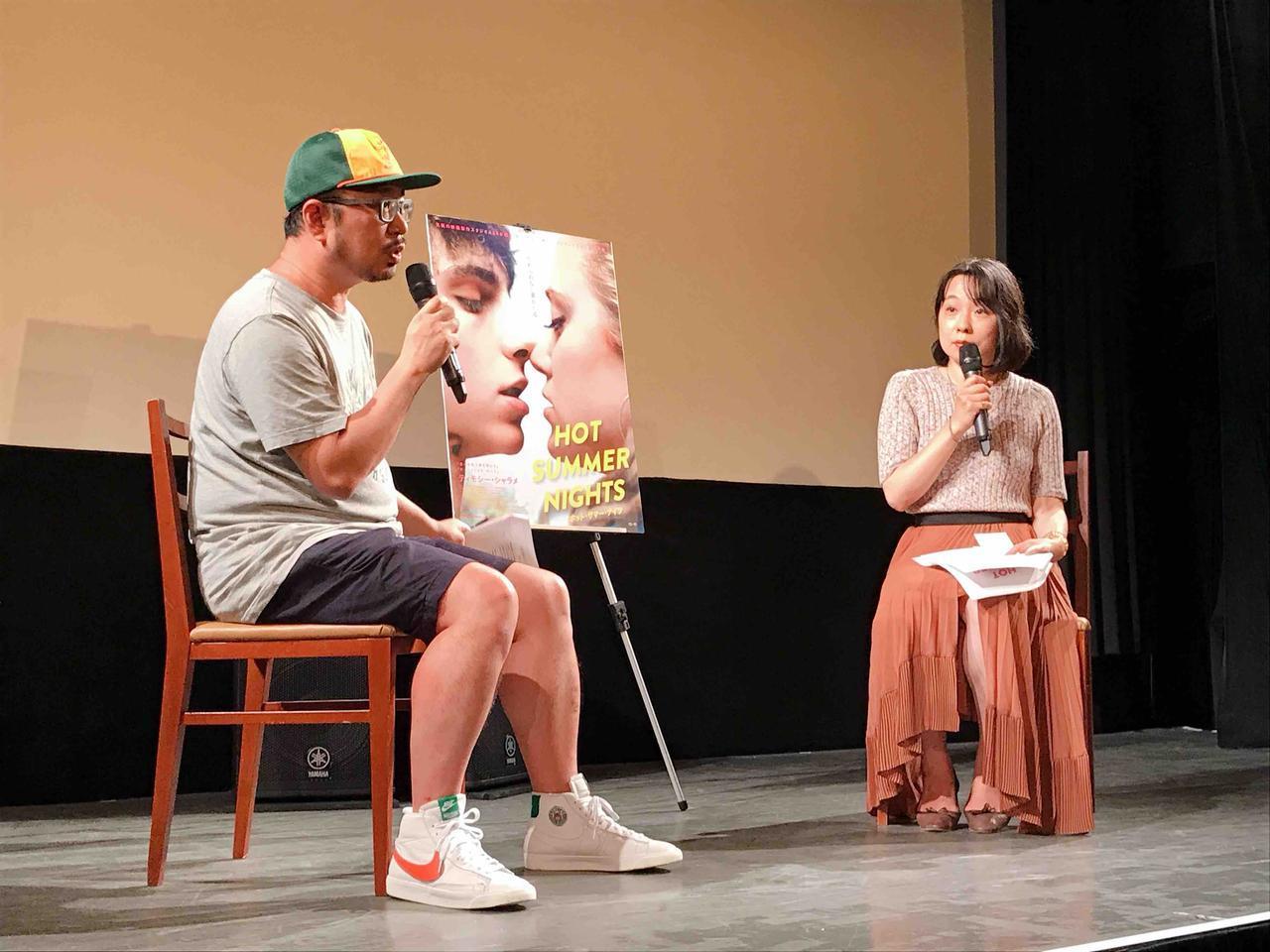 画像: 左より、宇野維正さん(映画・音楽ジャーナリスト)、辛酸なめ子さん(漫画家、コラムニスト)