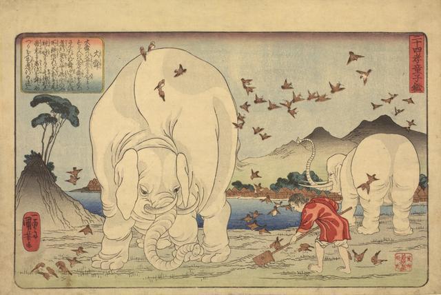 画像: 歌川国芳「二十四孝童子鑑 大舜」 天保14-弘化元年(1843-44)頃
