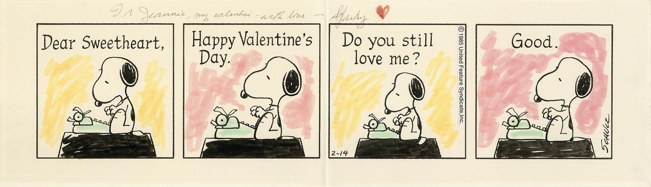 画像: 「ピーナッツ」原画 1985年2月14日 © Peanuts Worldwide LLC