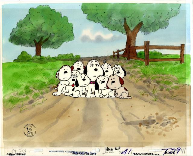 画像: テレビアニメーション『スヌーピー誕生』セル画 1991年 © Peanuts Worldwide LLC