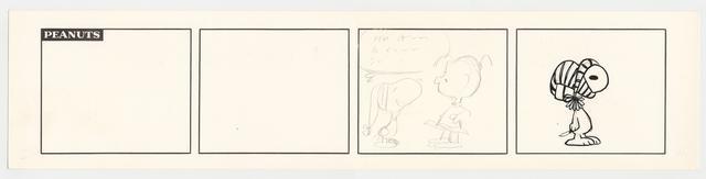 画像: 「ピーナッツ」描きかけのスケッチ 1976年頃 © Peanuts Worldwide LLC