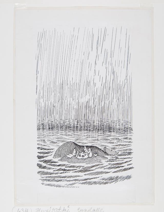画像: トーベ・ヤンソン 《「ムーミンパパ海へいく」挿絵》 1965年 インク・紙 ムーミン美術館 ©Moomin Characters™
