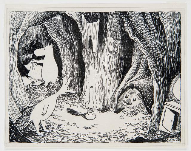 画像: トーベ・ヤンソン 《「ムーミン谷の彗星」挿絵》 1946年、1968年(改作) インク・紙 ムーミン美術館 ©Moomin Characters™